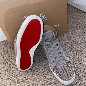 "Gray red bottom Christian Louboutin ""Red Bottoms"""